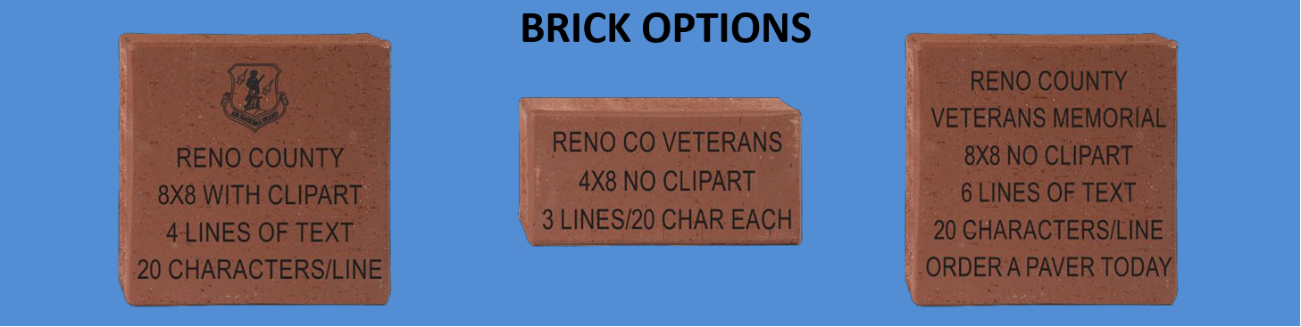 Commemorative Bricks Available Now